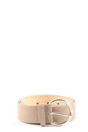 Coccinelle Cinturón de cuero de imitación blanco puro look casual
