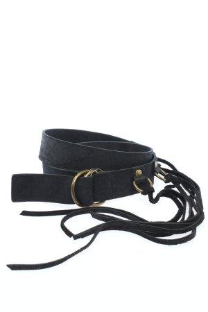 Coccinelle Cinturón de cuero de imitación negro estilo extravagante
