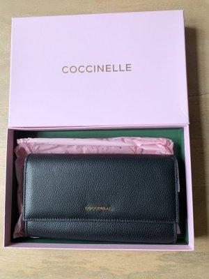 Coccinelle Luxus Clutch Handtasche schwarz gold NEU in Geschenkverpackung