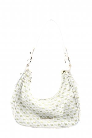 Coccinelle Mini sac blanc-kaki imprimé allover style décontracté