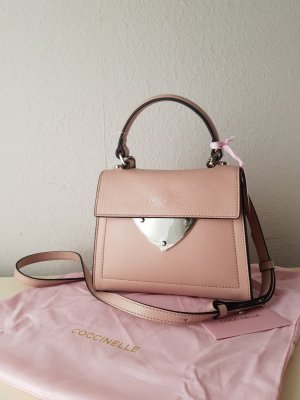 Coccinelle Crossbody bag dusky pink leather
