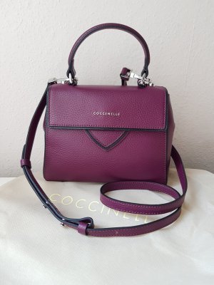 Coccinelle Crossbody bag brown violet leather