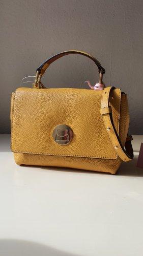 Coccinelle Original Echtleder Tasche Minibag Crossbody in Ocker-Gelb NEU