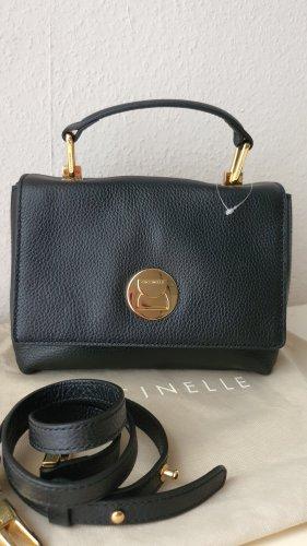 Coccinelle Original Echtleder Tasche Minibag Crossbody in Schwarz NEU