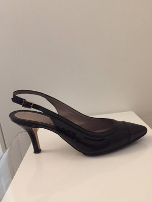 Coccinelle Backless Pumps black-gold-colored