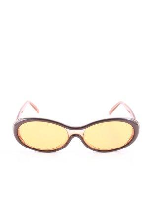 Coccinelle Retro Brille bronzefarben-hellorange Casual-Look