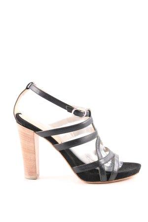 Coccinelle Riemchen-Sandaletten schwarz-nude Casual-Look