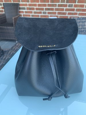 Coccinelle Mini sac à dos noir cuir