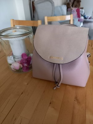 Coccinelle Mini Backpack gold-colored-dusky pink leather