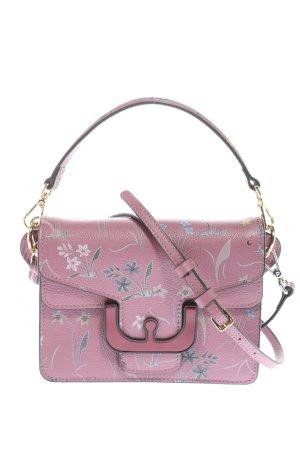 Coccinelle Schultertasche pink-blau Allover-Druck Elegant