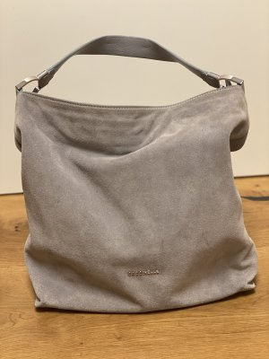 Coccinelle Schultertasche Suede Leather Ash Grey