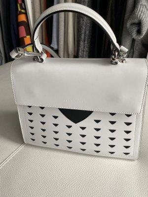 Coccinelle super stylische Handtasche schwarz und weiß ungetragen