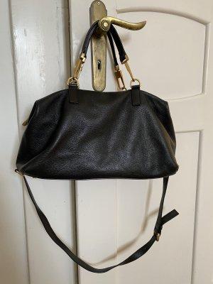 Coccinelle - Tasche aus schwarzem genarbtem Leder