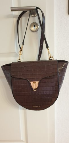 Coccinelle Tasche Beat Croco Chocolate