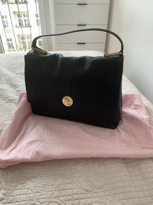 Coccinelle Tasche schwarz mit goldenen Applikationen