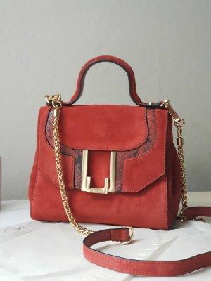 Coccinelle Wildleder Tasche Minibag Crossbody in Rot NEU