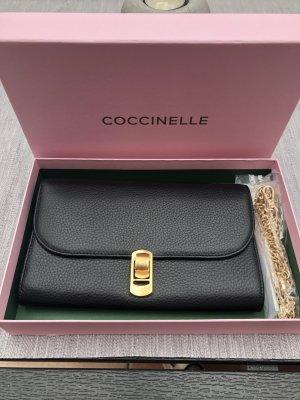 Coccinelle Kopertówka czarny-złoto Skóra