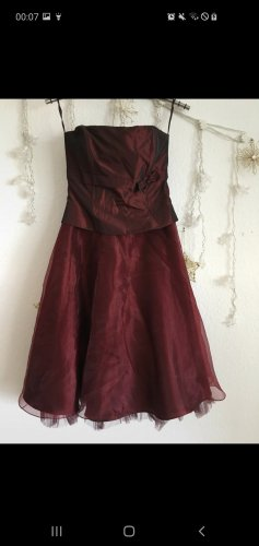 Ascia Petticoat Dress bordeaux
