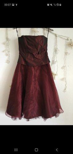Ascia Petticoat Dress bordeaux