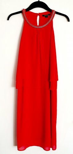 Comma Robe dos-nu rouge