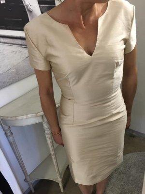 Cocktail Etuie Kleid Gold Gr 34 XS Neu