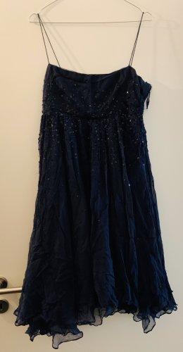 Zara Jurk met pailletten donkerblauw-zwart
