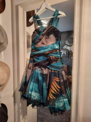 Juju & Christine Chiffon jurk veelkleurig