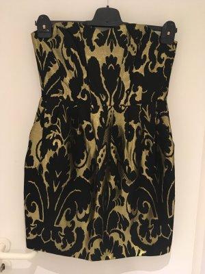 Cocktail-Kleid in schwarz/gold von H&M in Größe 40