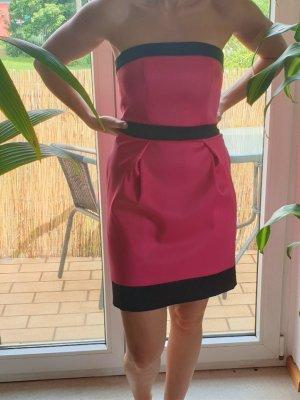 Cocktail Kleid kurz Trägerlos Größe 34 Lipsy