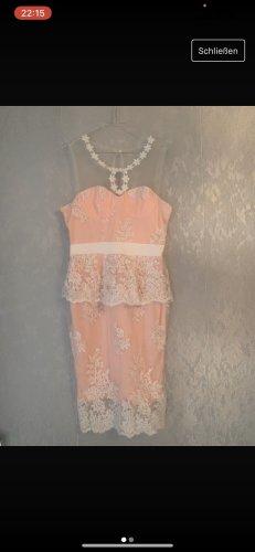 Cocktail Kleid rosa mit spitze