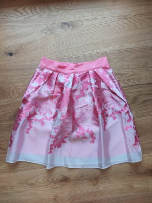 Coast Lniana spódnica biały-różowy