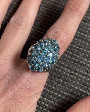 QVC Zilveren ring zilver-lichtblauw