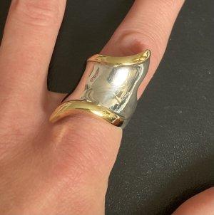 Cocktail-Ring 925 Silber bicolor Gr. 19