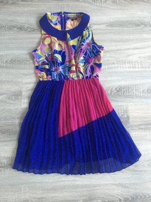 Flame Robe chiffon multicolore