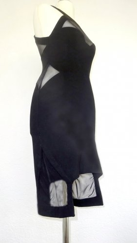 American Retro Cocktail Dress black mixture fibre