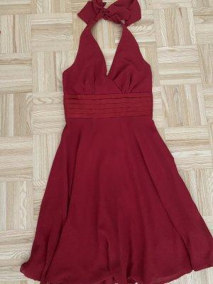C&A Vestido de cóctel rojo oscuro