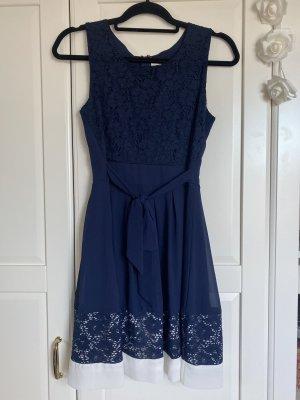 Apricot Cocktail Dress white-dark blue