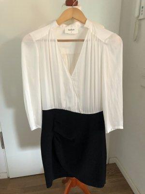 Ba&sh Sukienka koktajlowa w kolorze białej wełny-czarny