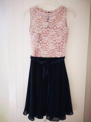 Swing Evening Dress rose-gold-coloured-dark blue
