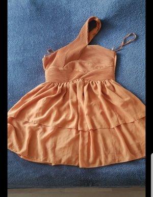 H&M Sukienka na jedno ramię pomarańczowy
