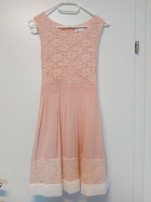 Apricot Cocktail Dress white-pink