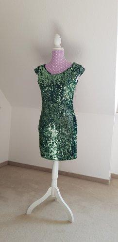 Robe à paillettes vert
