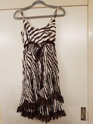 Emphasis Paris Sukienka koktajlowa brązowy-kremowy