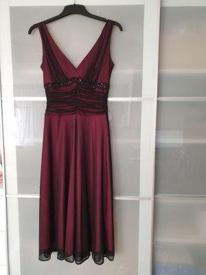 Cocktailkleid Abendkleid Chiffonkleid dunkelrot bordeaux schwarz Yessica 34