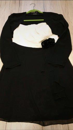 Cocktailkleid/Abendkleid Gr.36 schwarz/weiß