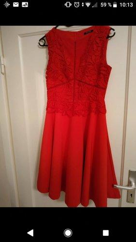 Orsay Vestido con enagua rojo