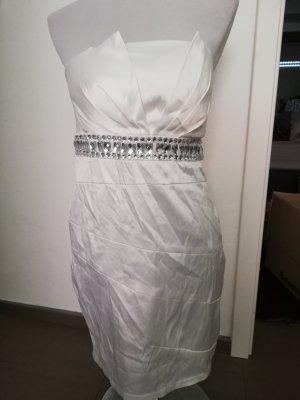 Bandeau Dress white-silver-colored