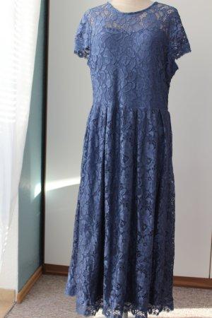 Cocktailkleid blau elegant vintage Gr. 46 neu Kurzarm 50-iger Jahre Look