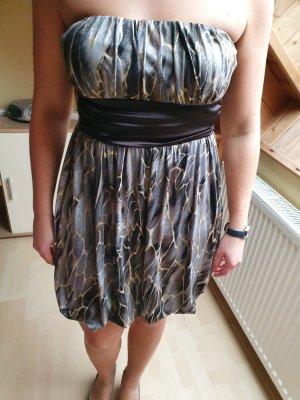 Body Cover Off the shoulder jurk veelkleurig