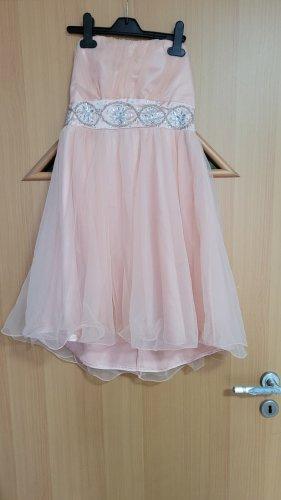 Vestido babydoll rosa-rosa claro tejido mezclado